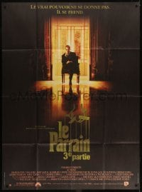 2p816 GODFATHER PART III French 1p 1990 best image of Al Pacino, Francis Ford Coppola sequel!