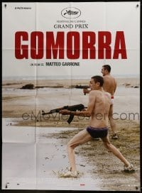 2p818 GOMORRAH French 1p 2008 great image of two guys in their underwear on beach with guns!