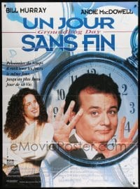 2p822 GROUNDHOG DAY French 1p 1993 Bill Murray, Andie MacDowell, directed by Harold Ramis!