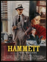 2p827 HAMMETT French 1p 1982 Wim Wenders, Frederic Forrest, cool Peellaert detective artwork!