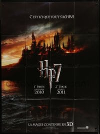 2p828 HARRY POTTER & THE DEATHLY HALLOWS PART 1 & PART 2 teaser French 1p 2010 it all ends here!