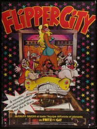2p830 HEAVY TRAFFIC French 1p 1973 Ralph Bakshi adult cartoon, sexy different art, Flipper City!