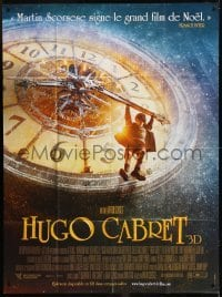 2p838 HUGO French 1p 2011 Martin Scorsese, great image of Asa Butterfield hanging from huge clock!