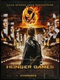 2p839 HUNGER GAMES advance French 1p 2012 Jennifer Lawrence, Josh Hutcherson, cool different image!