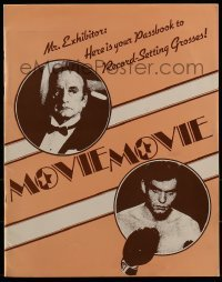 2p173 MOVIE MOVIE promo brochure 1978 George C. Scott, Stanley Donen, includes two 19x25 posters!