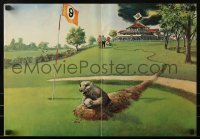 2p164 CADDYSHACK promo brochure 1980 different art of gopher on golf course + cast portraits!