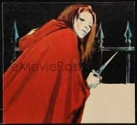 2p183 FEAST OF FLESH Italian promo brochure 1972 Barbara Bouchet, cool horror art by Manfredo!