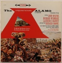2p192 ALAMO 33 1/3 RPM soundtrack record 1960 great Reynold Brown art & John Wayne's speech!