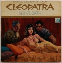 2p195 CLEOPATRA 33 1/3 RPM soundtrack record 1963 Taylor, Burton, Harrison, Howard Terpning art!