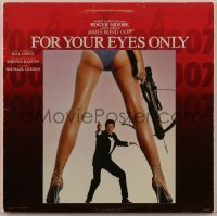 2p199 FOR YOUR EYES ONLY 33 1/3 RPM soundtrack record 1981 Roger Moore as James Bond 007!