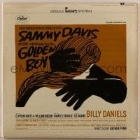 2p200 GOLDEN BOY 33 1/3 RPM soundtrack record 1965 Broadway show with Sammy Davis, Saul Bass art!