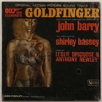 2p201 GOLDFINGER 33 1/3 RPM soundtrack Canadian record 1964 Sean Connery as James Bond!
