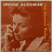 2p204 INGRID BERGMAN 33 1/3 RPM soundtrack record 1944 music from The Human Voice TV movie!