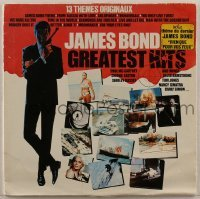 2p205 JAMES BOND 33 1/3 RPM soundtrack French record 1982 greatest song hits from several movies!