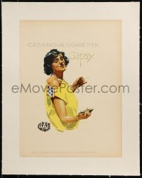 2p123 LUDWIG HOHLWEIN linen 9x12 German book page 1926 Casanova Cigaretten woman, smoking woman!