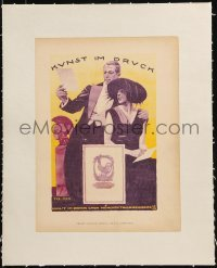 2p128 LUDWIG HOHLWEIN linen 9x12 German book page 1926 Kunst im Druck, art of fancy man & woman!