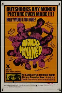 2r666 MONDO HOLLYWOOD 1sh 1969 x-rated, no camera ever captured more, the love generation!