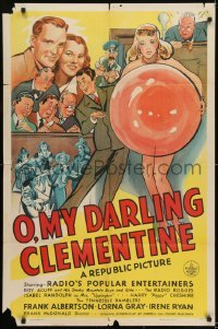 2r703 O MY DARLING CLEMENTINE 1sh 1943 Roy Acuff & His Smoky Mountain Boys and Girls, Radio Rogues!