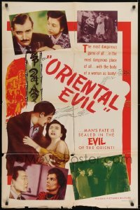 2r719 ORIENTAL EVIL 1sh 1951 Man's Fate is sealed in the Evil of the Orient, Martha Hyer!
