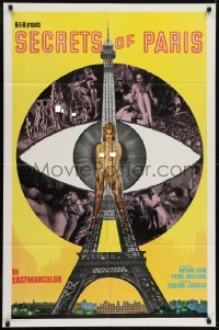 2r729 PARIS SECRET 1sh 1965 the most shocking motion picture you have ever seen!
