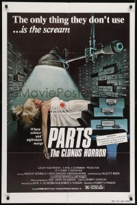 2r730 PARTS: THE CLONUS HORROR 1sh 1978 science & nightmare, art of sexy girl on autopsy table!