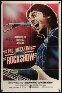 2r731 PAUL MCCARTNEY & WINGS ROCKSHOW 1sh 1980 art of him playing guitar & singing by Kozlowski!