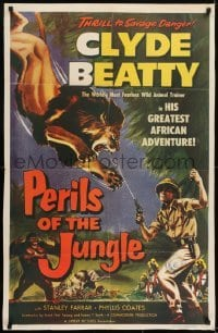 2r735 PERILS OF THE JUNGLE 1sh 1953 Clyde Beatty in his great African adventure!