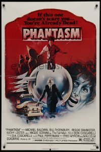 2r737 PHANTASM 1sh 1979 if this one doesn't scare you, you're already dead, cool art by Joe Smith!