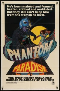 2r739 PHANTOM OF THE PARADISE revised 1sh 1974 Brian De Palma, different artwork by Richard Corben!