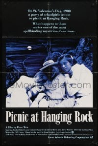2r740 PICNIC AT HANGING ROCK 1sh 1979 Peter Weir classic about vanishing schoolgirls!