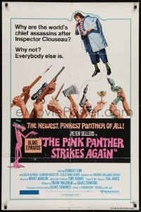 2r741 PINK PANTHER STRIKES AGAIN style B 1sh 1976 Peter Sellers is Inspector Clouseau, Geoffrey art!