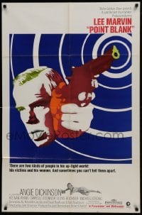 2r748 POINT BLANK 1sh 1967 cool art of Lee Marvin, Angie Dickinson, John Boorman film noir!