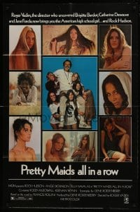 2r753 PRETTY MAIDS ALL IN A ROW 1sh 1971 Rock Hudson seduces high school cheerleaders!