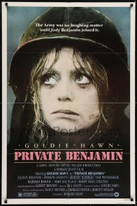 2r755 PRIVATE BENJAMIN 1sh 1980 funny image of depressed soldier Goldie Hawn!