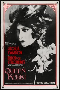 2r759 QUEEN KELLY 1sh 1985 Gloria Swanson, Erich von Stroheim's mostly completed project!