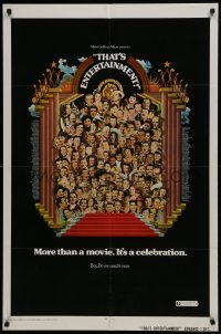 2r895 THAT'S ENTERTAINMENT advance 1sh 1974 classic MGM Hollywood scenes, it's a celebration!