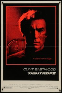 2r912 TIGHTROPE 1sh 1984 Clint Eastwood is a cop on the edge, cool handcuff image!