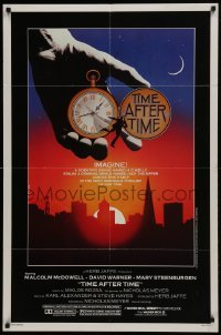 2r914 TIME AFTER TIME 1sh 1979 directed by Nicholas Meyer, cool fantasy artwork by Noble!