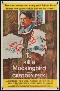 2r917 TO KILL A MOCKINGBIRD 1sh 1963 by Mary Badham who signed as 'Scout', Gregory Peck classic!