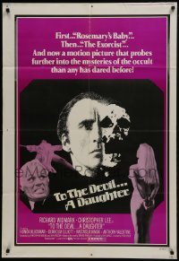 2r919 TO THE DEVIL A DAUGHTER 1sh 1976 Richard Widmark, Christopher Lee, different image!