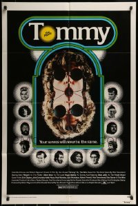 2r922 TOMMY 1sh 1975 The Who, Roger Daltrey, rock & roll, cool mirror image!