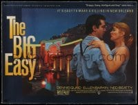 2s079 BIG EASY linen British quad 1987 different art of Dennis Quaid & sexy Ellen Barkin dancing!