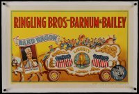 2s019 RINGLING BROS & BARNUM & BAILEY CIRCUS linen 18x28 circus poster 1943 cool Bill Bailey art!