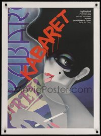 2s046 CABARET linen Czech 23x32 1989 best different Bartosova art of smoking Liza Minnelli!