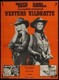 2s050 LEGEND OF FRENCHIE KING linen Danish 1972 sexy cowgirls Claudia Cardinale & Brigitte Bardot!