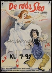 2s051 RED SHOES linen Danish 1949 Powell & Pressburger, great different Wenzel ballet art, rare!