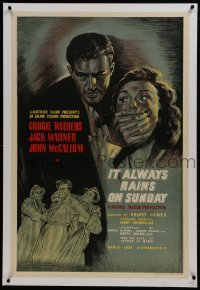2s120 IT ALWAYS RAINS ON SUNDAY linen English 1sh 1949 convict escapes but finds his girl married!