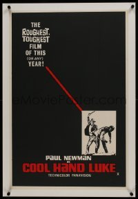 2s087 COOL HAND LUKE linen teaser English double crown 1967 Paul Newman, cool different image, rare!