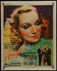 2s063 ANGEL linen French 23x29 1937 great art portrait of Marlene Dietrich, Ernst Lubitsch, rare!