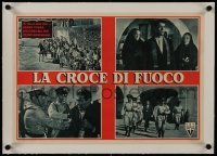 2s107 FUGITIVE linen Italian 13x18 pbusta 1948 four images with Henry Fonda & soldiers!